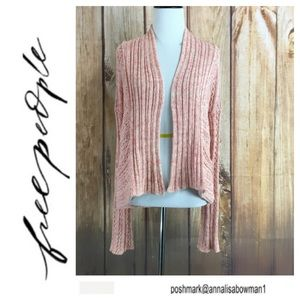 🐞Free People coral knit cardigan size Small